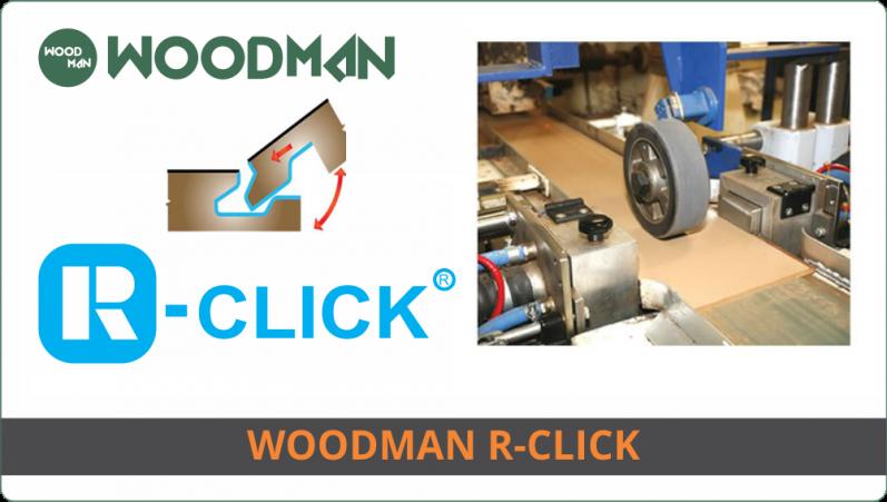 WOODMAN sử dụng hèm khóa R-Click Độc quyền giúp dễ dàng lắp đặt cũng như tháo lắp tái sử dụng