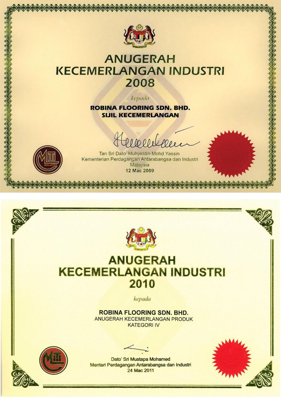 Product Excellence Award WOODMAN Laminated