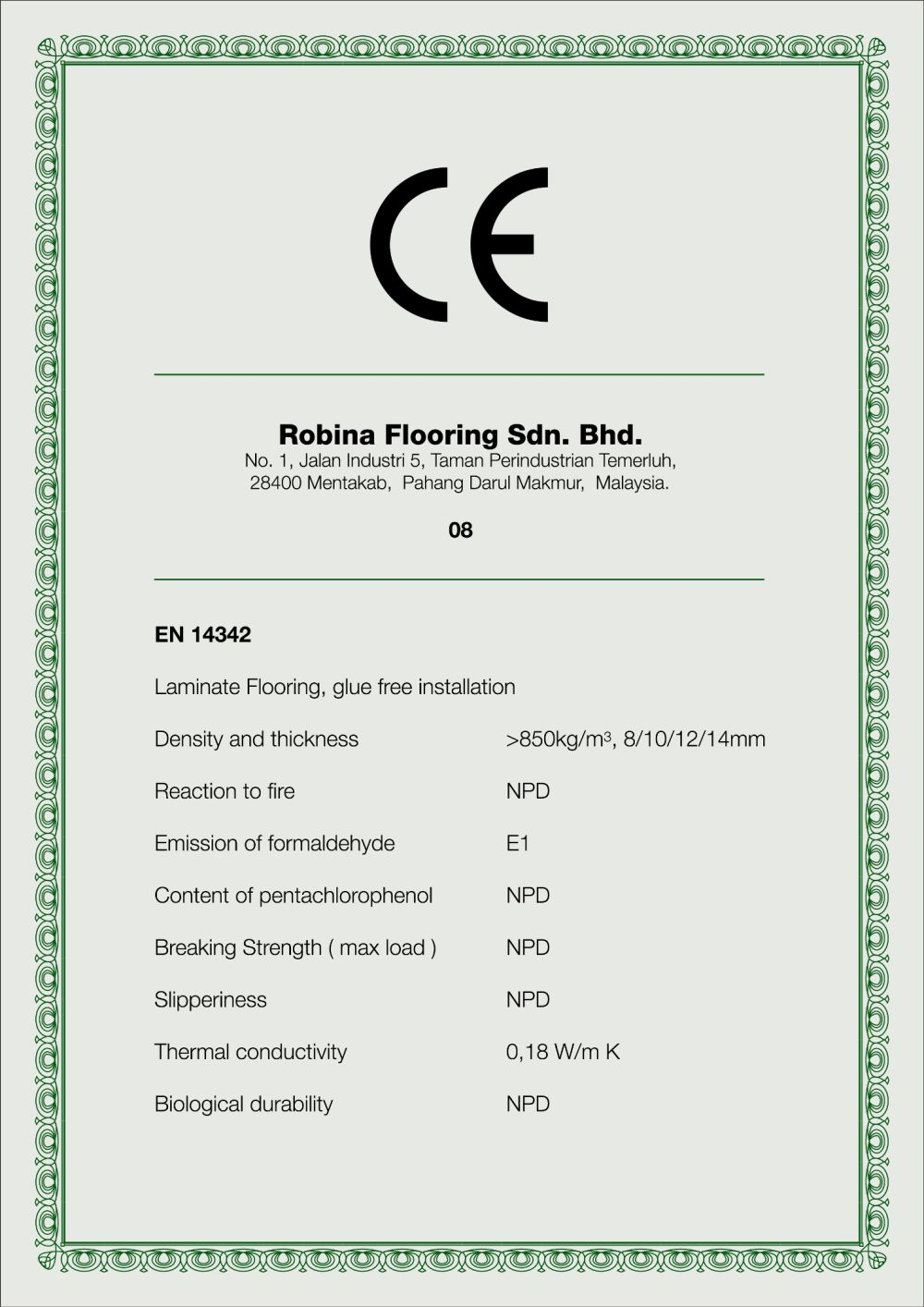 Tested to Comply with CE Marking