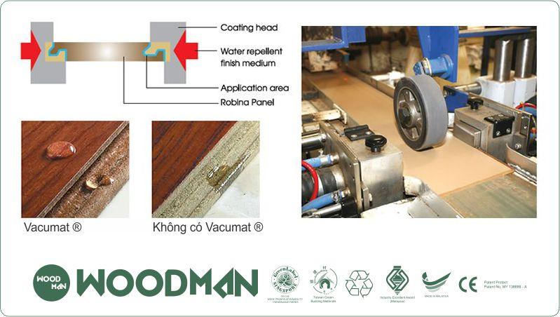 WOODMAN sử dụng Hệ thống bảo vệ Edge Vacumat®: giúp ổn định cũng như bảo vệ mặt sàn, giảm tiếng ổn...