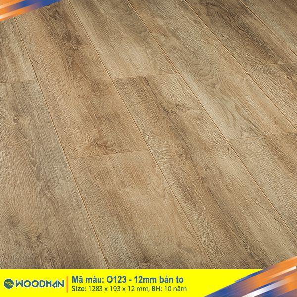 Sàn gỗ WOODMAN O123 - 12mm bản to