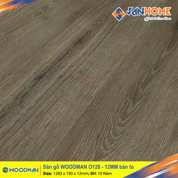 Sàn gỗ WOODMAN O128 - 12mm bản to