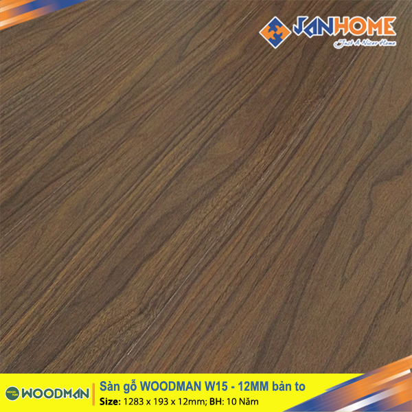 Sàn gỗ WOODMAN W15 12mm bản to