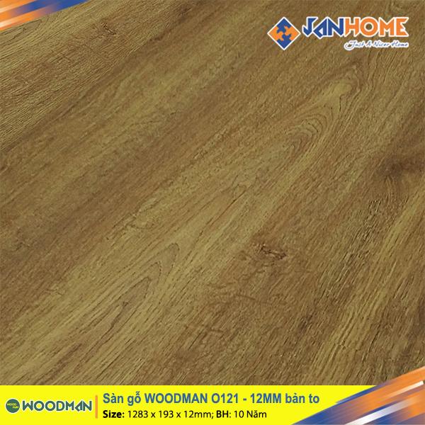 Sàn gỗ WOODMAN O121 - 12mm bản to