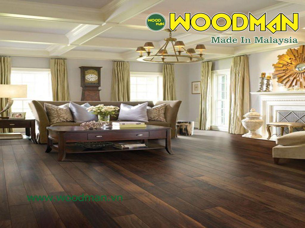 Sàn gỗ Woodman là dòng sàn gỗ Malaysia được đánh giá rất cao về chất lượng và độ bền sản phẩm.