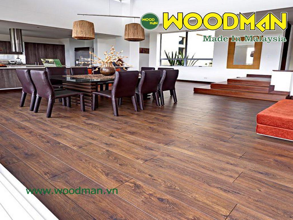 Sàn gỗ Woodman có mức an toàn E1 đạt chuẩn Châu Âu.