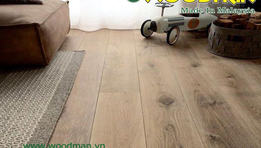 Sàn gỗ công nghiệp WOODMAN 8mm có giá thành phải chăng hơn nhiều so với loại 12mm.