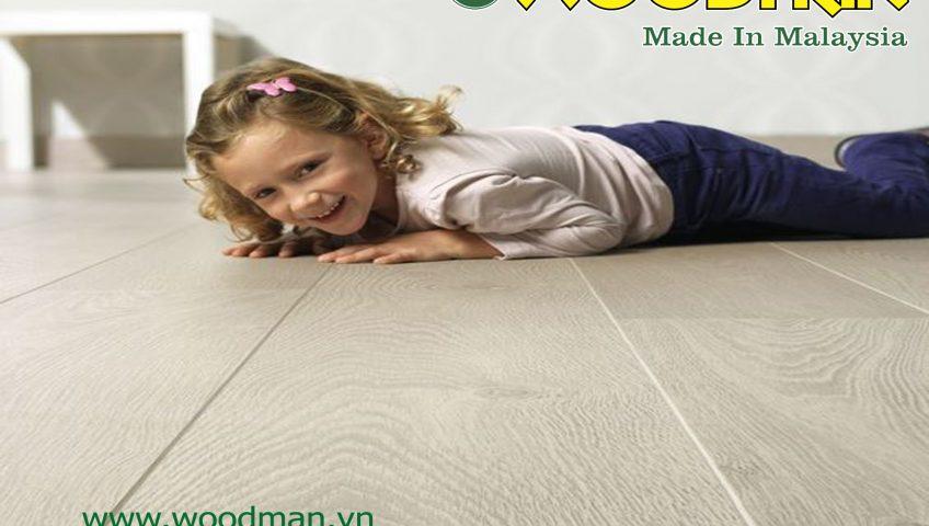 Sàn gỗ Woodman phù hợp gia đình có trẻ nhỏ và người già.