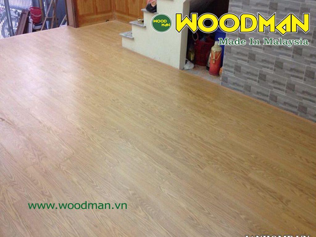 Sàn gỗ Woodman O39 lắp đặt phòng khách tầng 1.