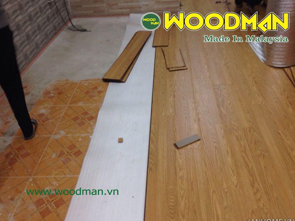 Thêm hình ảnh thi công sàn gỗ công nghiệp WOODMAN.