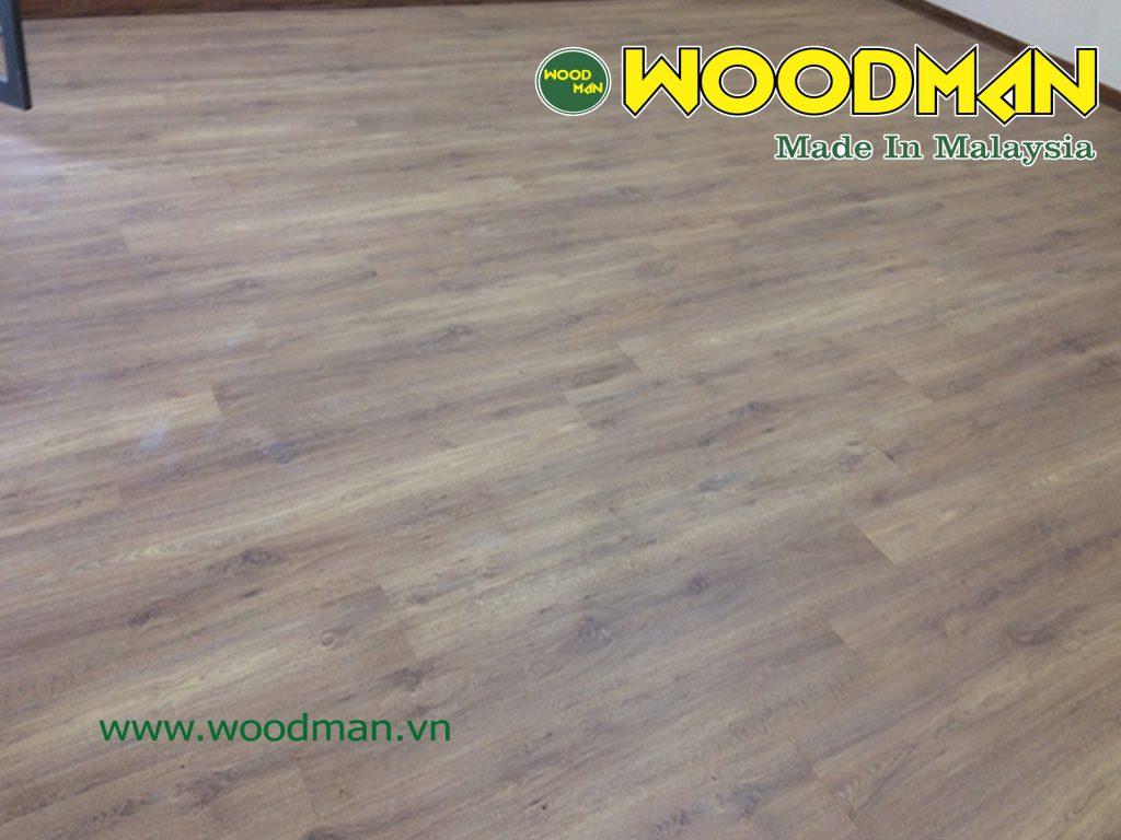 Hình ảnh hoàn thiện sàn gỗ Woodman O121.