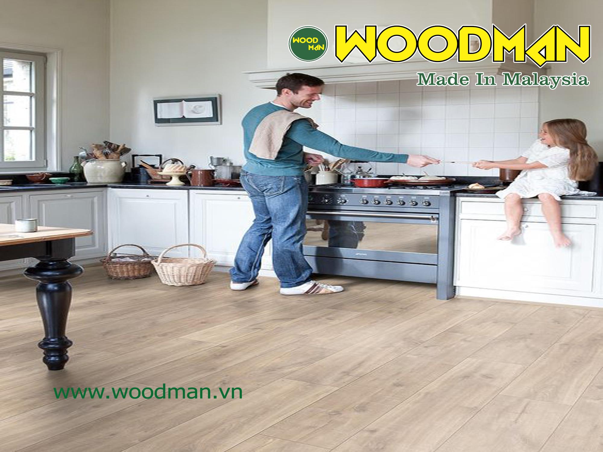 Sàn gỗ Woodman có khả năng điều hòa không khí, mang lại không gian thoải mái cho người sử dụng.