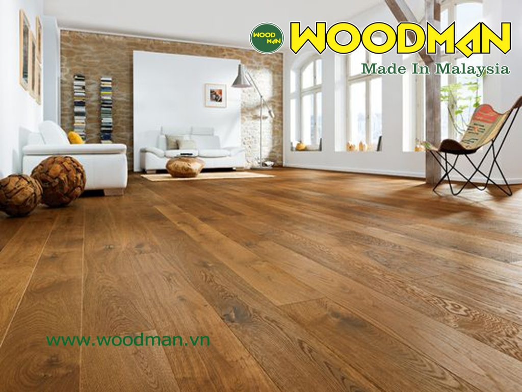 WOODMAN là thương hiệu sàn gỗ Malaysia có khả năng chịu nước vượt trội.