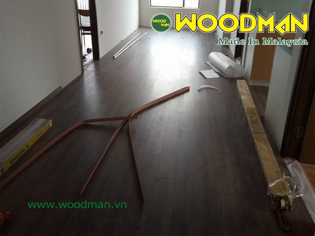 Thêm hình ảnh quá trình thi công sàn gỗ Woodman O113.