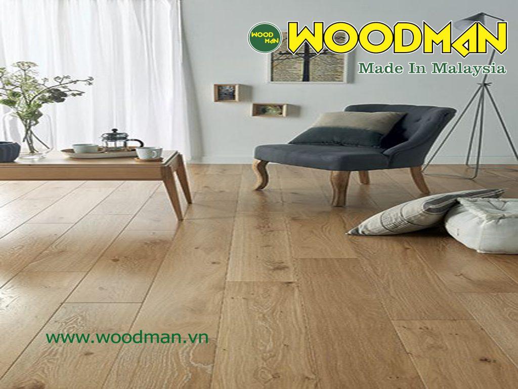 Hệ thống hèm khóa R-Click độc quyền được cải tiến thường xuyên của sàn gỗ WOODMAN được xem là tốt nhất hiện nay.