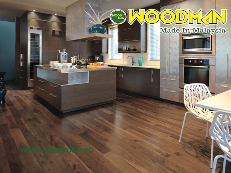 Sàn gỗ Malaysia có khả năng siêu chịu nước lắp đặt phòng khách