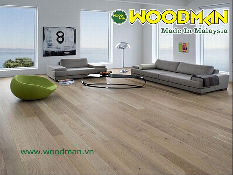 Sàn gỗ công nghiệp đẹp lắp đặt phòng khách