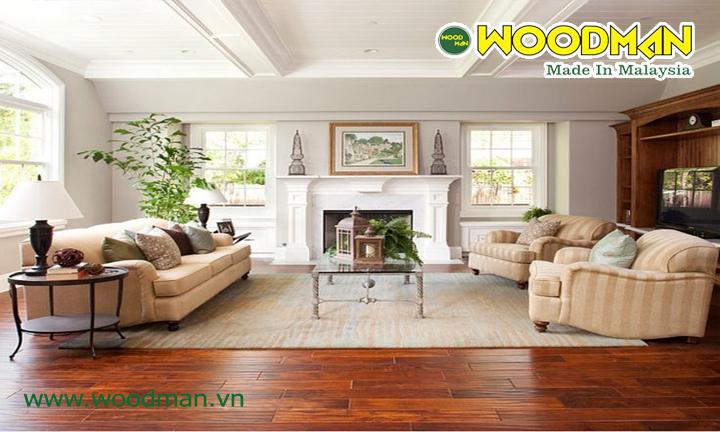 Sàn gỗ công nghiệp Malaysia lắp đặt phòng khách