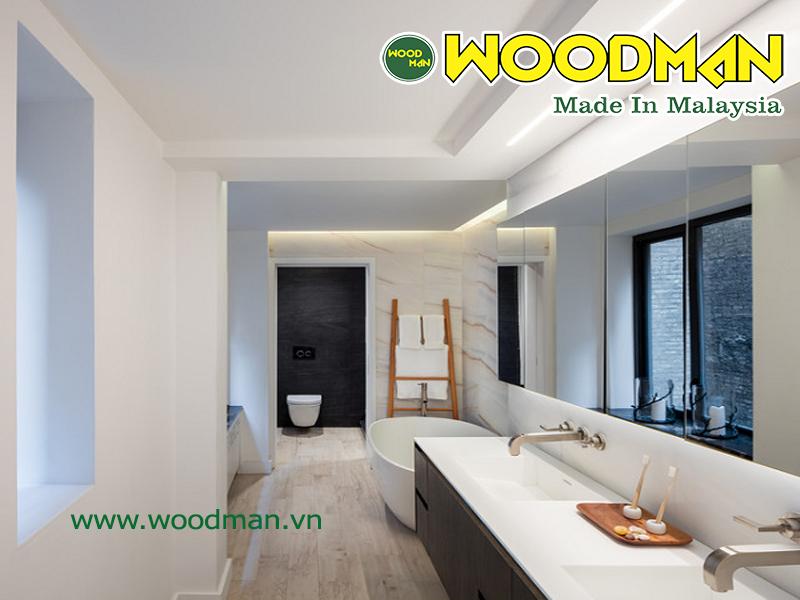 Sàn gỗ Malaysia lát sàn phòng tắm đẹp hiện đại