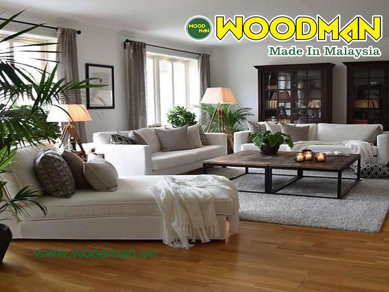 Sàn gỗ công nghiệp giúp giải nhiệt mùa hè, mang lại không khí trong lành, mát mẻ