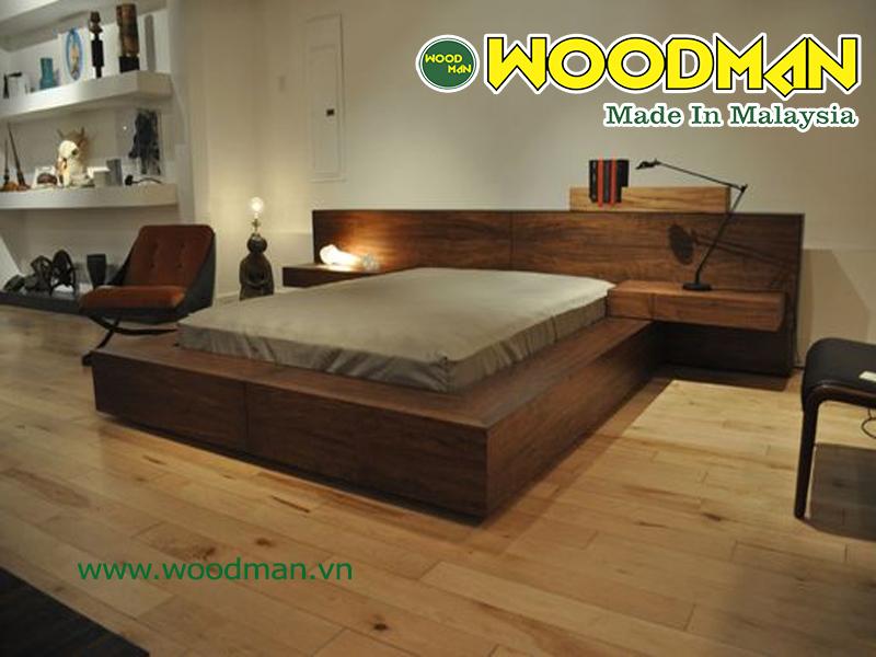 Nên lựa chọn sàn gỗ có màu sắc nhẹ nhàng trùng tính cho không gian phòng ngủ