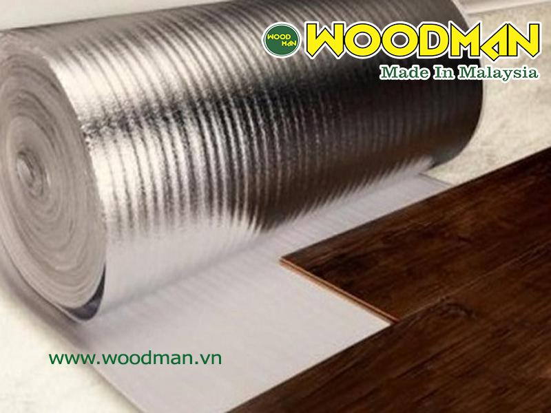 Xốp bạc được sử dụng ở hầu hêt các công trình sàn gỗ mang lại độ bền cao cho công trình lắp đặt
