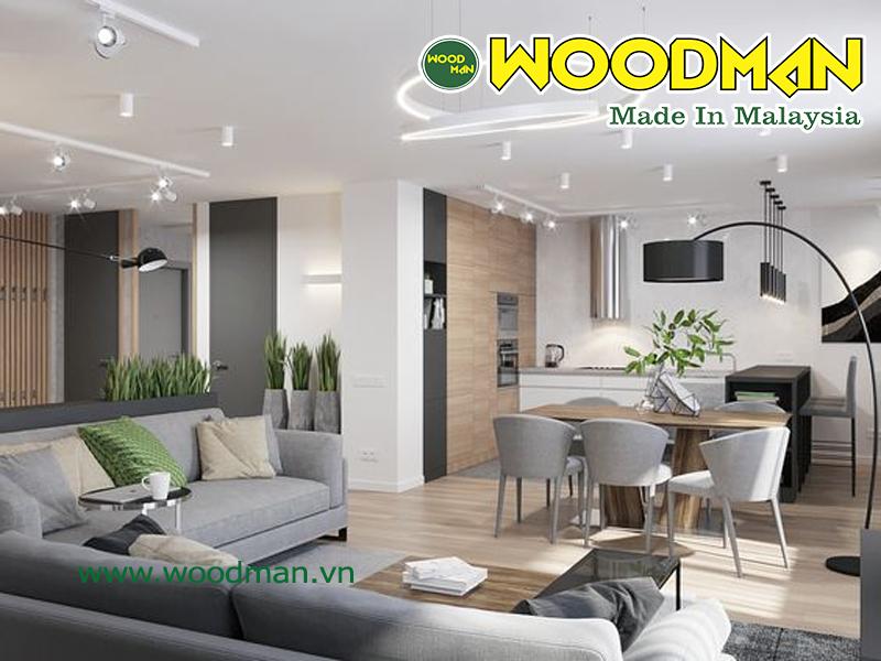 Lựa chọn sàn gỗ có độ dầy phù hợp với từng không gian lắp đặt để đảm bảo độ bền lâu