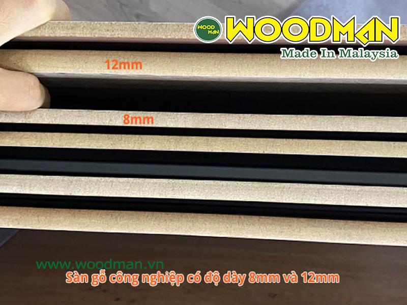 Tiêu chuẩn về độ dày của sàn gỗ công nghiệp