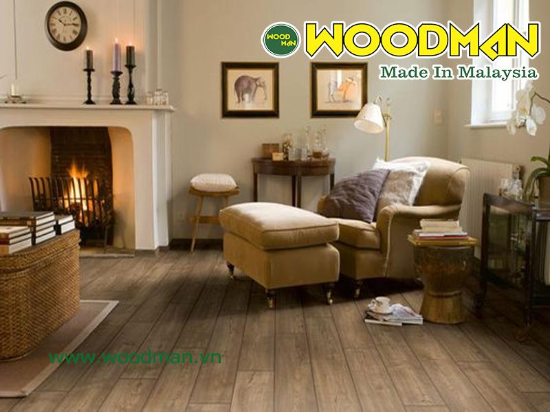Sàn gỗ Woodman là sàn gỗ có chất lượng tốt nhập khẩu từ Malaysia