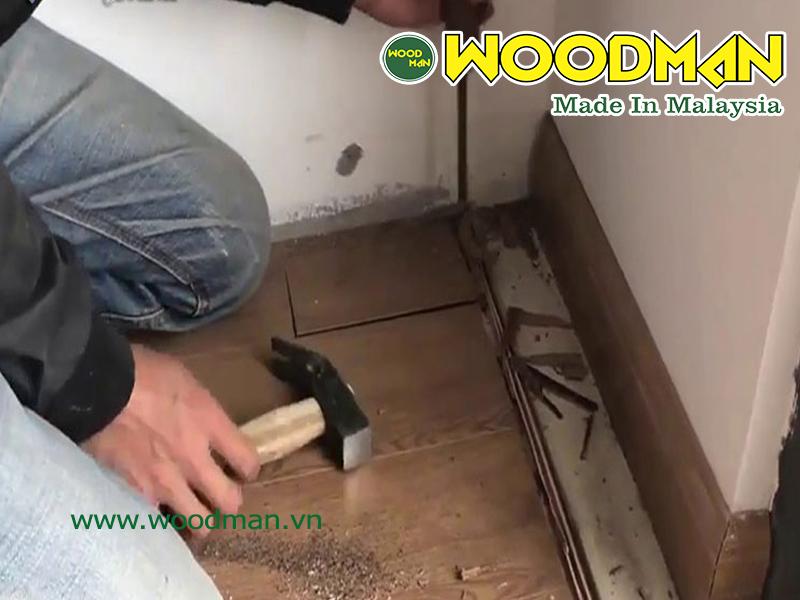 Xử lý sàn gỗ công nghiệp bị cong vênh