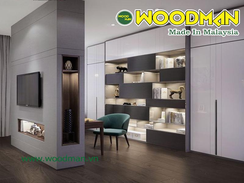 Sàn gỗ công nghiệp Janmi lắp đặt không gian nội thất sang trọng